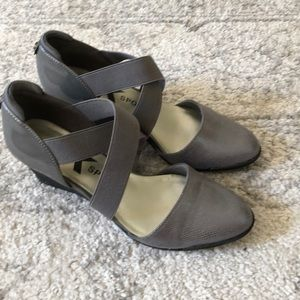 Anne Klein Sport Metallic Wedges